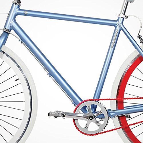Gama Speed Cat 700c Duo 3 Internal Road Bicycle, 21-Inch frame, Denim