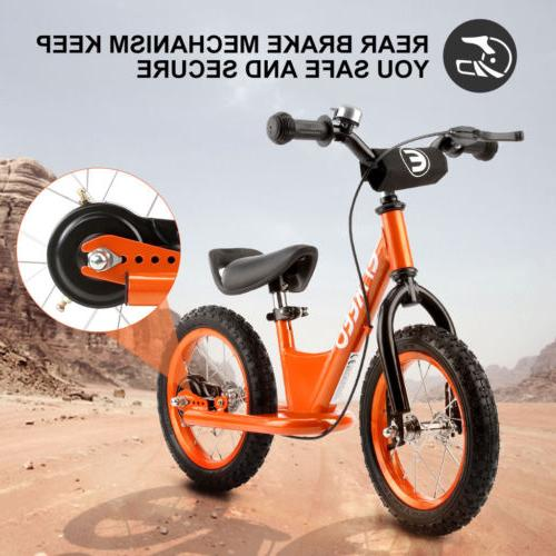 Orange 14 inch Children Balance Bike Bycicle No Pedal Adjust