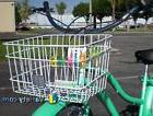 JBikes Square Steel Wire Beach Cruiser Bike Basket, White