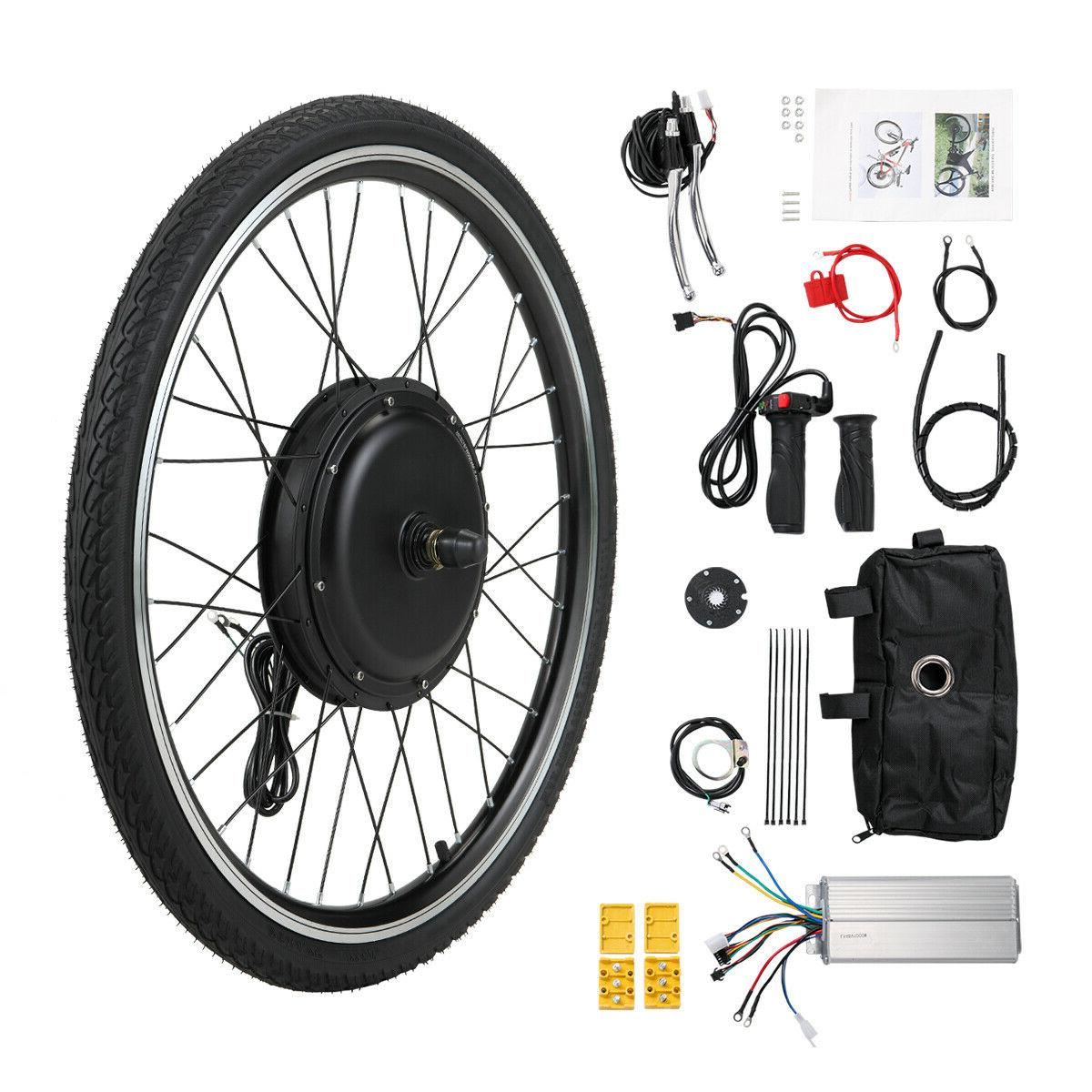 "36V Front Wheel 500W 26"" Ebike Cycling Electric Bicycle Moto"