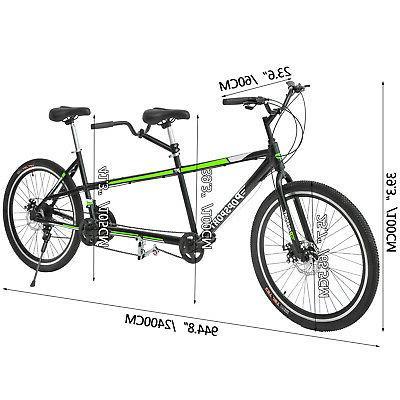"Tandem Bike 20"" Frame Green"