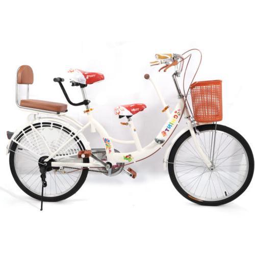 22'' Tandem Bike Bicycle 2Seater Bike Parents W/ Kid Baby Pa