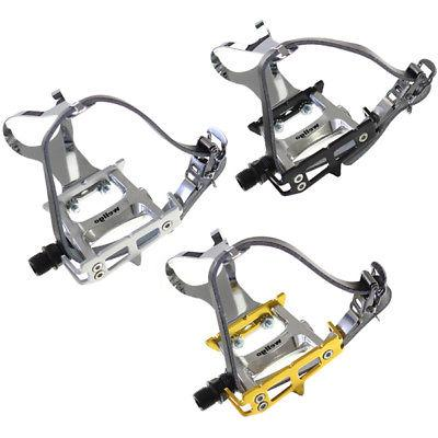 Wellgo MT-10 Mountain Bike Pedal Strapless Toe Clips Pair