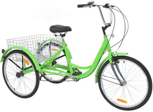 Tricycle 3-Wheel Bicycle Trike Shopping