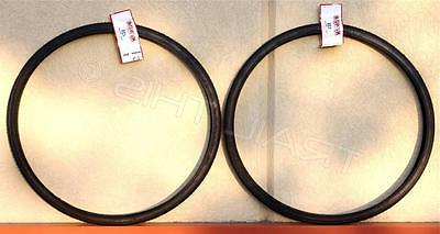 "Two x Kenda K35 BLACK Wall 27 x 1-1/4"" Road Bicycle Tires W"
