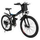 "26"" Folding Electric Mountain Bike Bicycle Ebike W/ Lithium"
