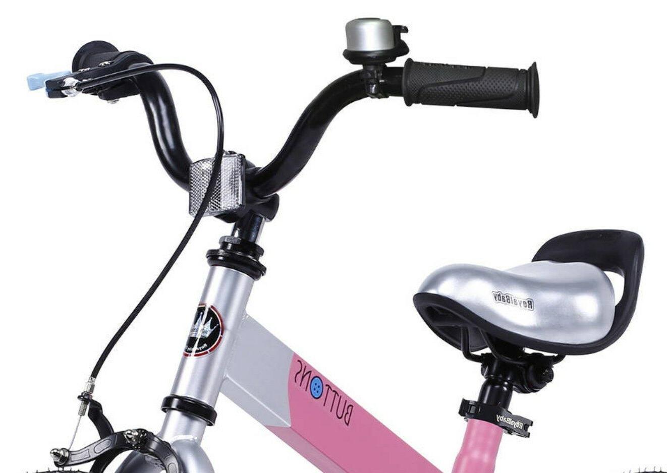 """RoyalBaby Unisex Kid Bicycle Training 16"""" Matte Pink"""