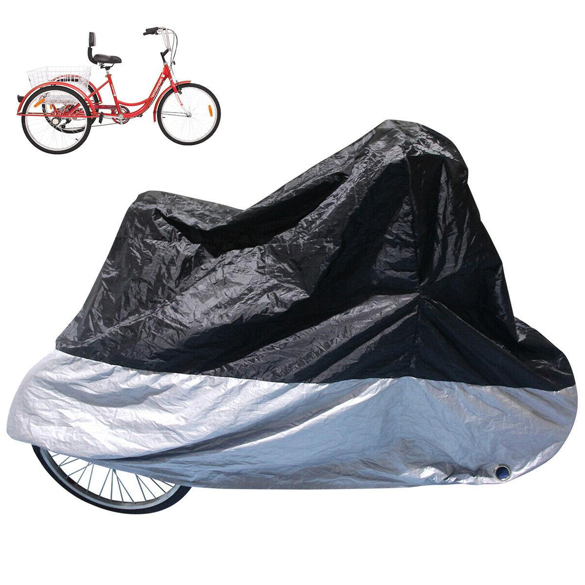 75*30*44inch Waterproof Bicycle Tricycle Bike Cover Outdoor
