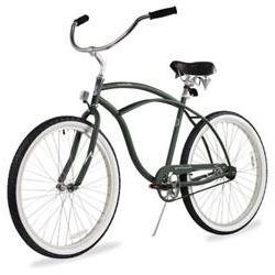 Men's Urban Man Classic Beach Cruiser Bike, Matte Black