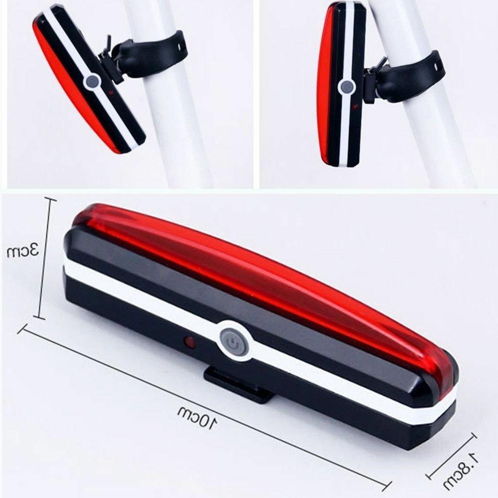 USB Tail Light Rear LED Bike Cycling