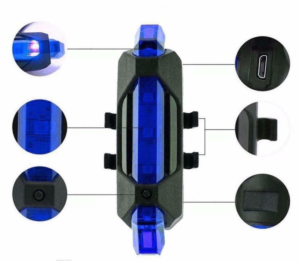 USB RECHARGEABLE LED Mountain Light rear bar