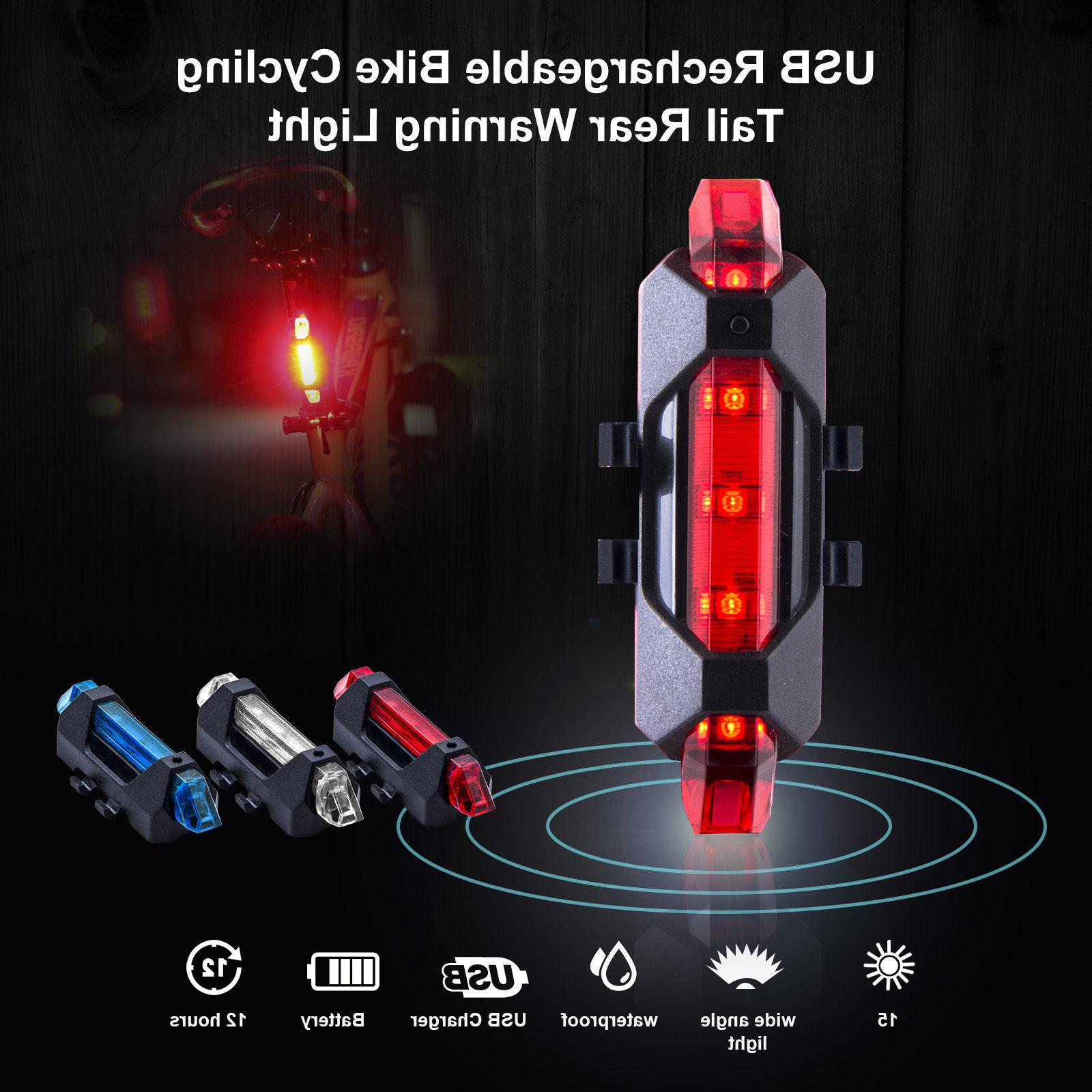 usb rechargeable frame flash led bike bicycle