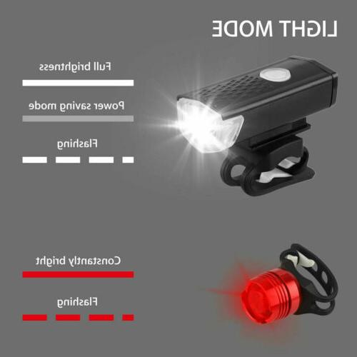 USB Rechargeable Headlight Bike Front Lamp Cycling