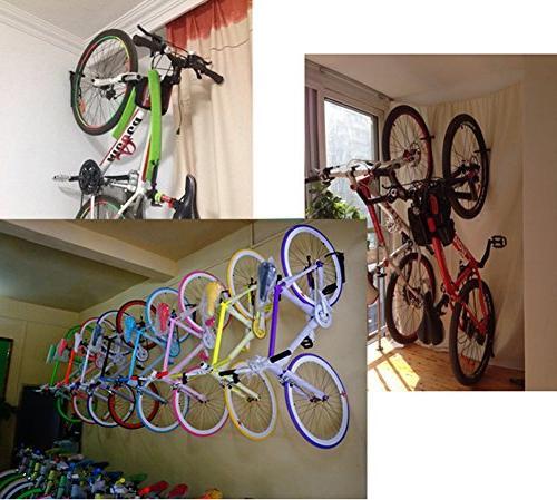 Dirza Mount Bike Rack Bicycle Bike System Garage Indoor Heavy to 65lbs Hang/Detach of
