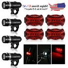 New Waterproof 5 LED Lamp Bike Bicycle Front Head Light + Re