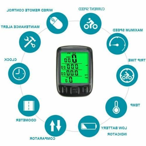 Waterproof LCD Digital Bicycle Speedometer Odometer