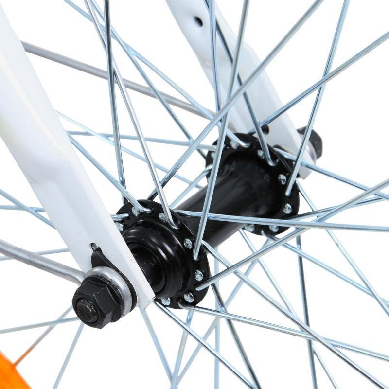 """White 24"""" Adult 3-Wheel Speed Bicycle Trike Cruiser Basket"""