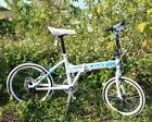 """White 20"""" Folding 451 Bicycle 21 speed Damping Double Disc F"""