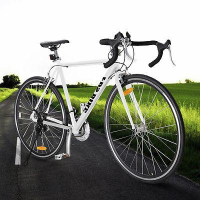 White Aluminum Road/Commuter Racing Bicycle 21