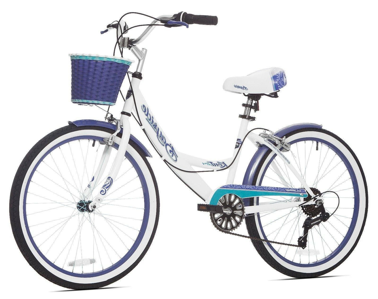 Beach Cruiser Bike Bicycle Womens 24 Inch Girls 7 Speed Vint