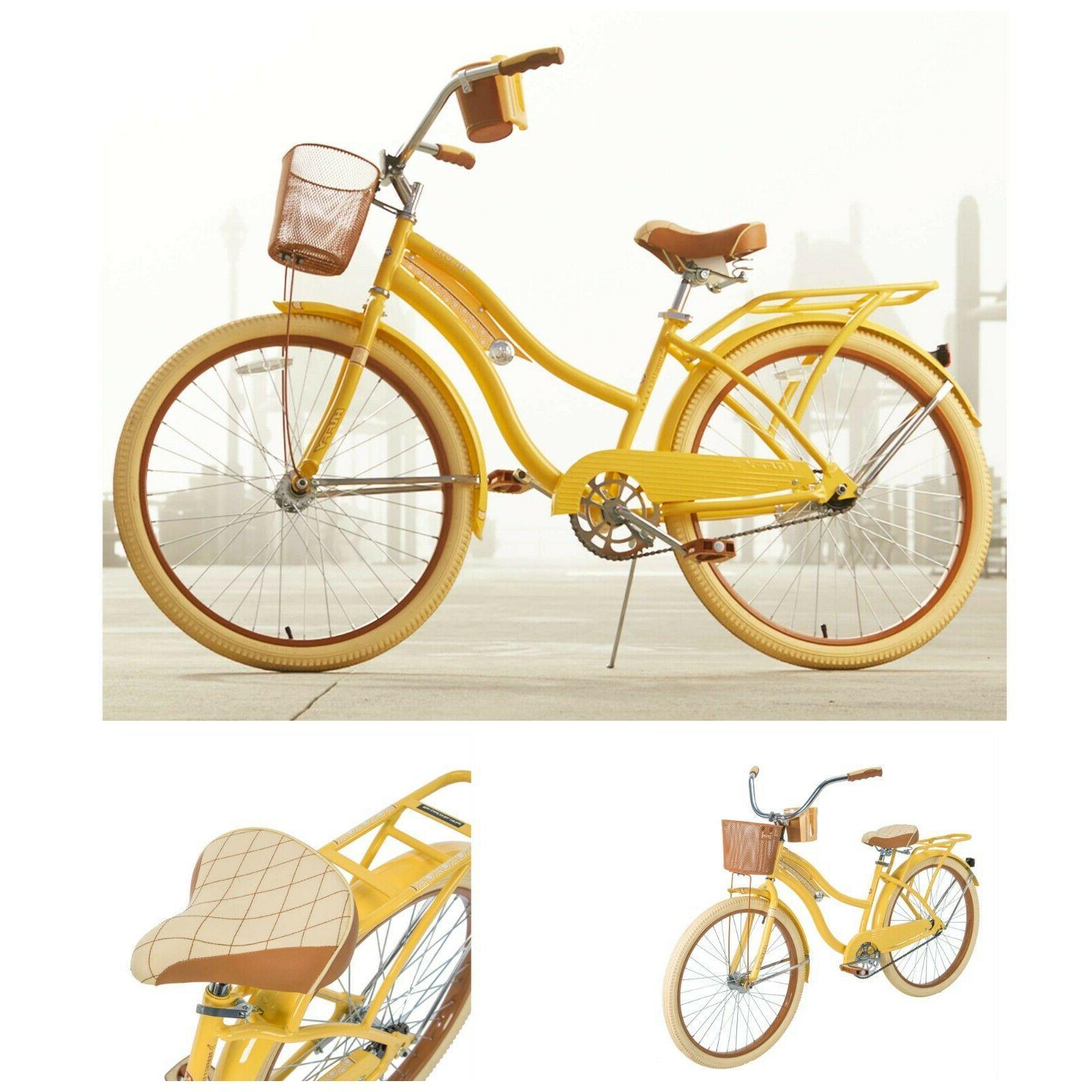 Womens Bike 26 Vintage Beach Bicycle Basket Ladies Cruising