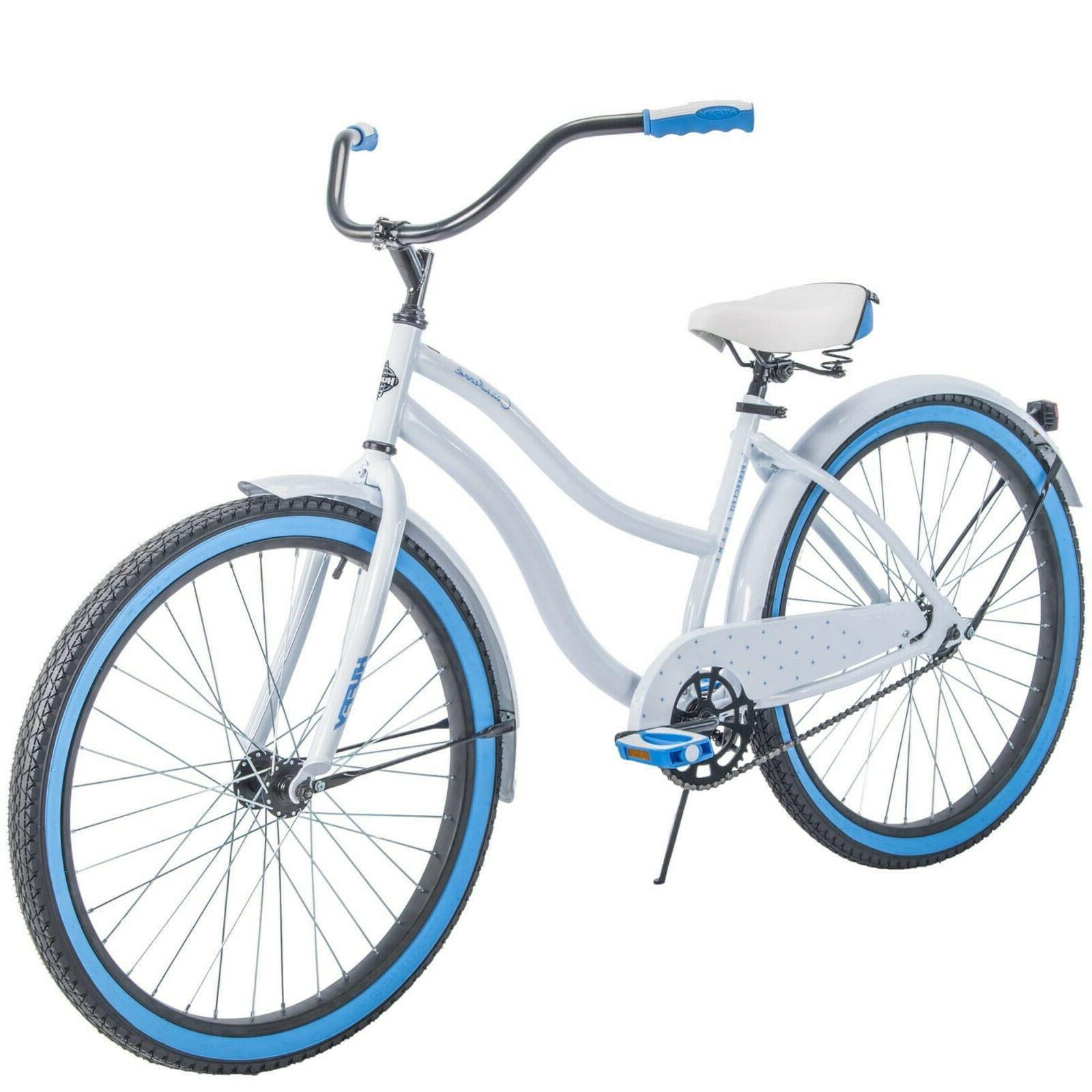"Huffy 26"" White Cranbrook Women's Cruiser Bike with Perfect"