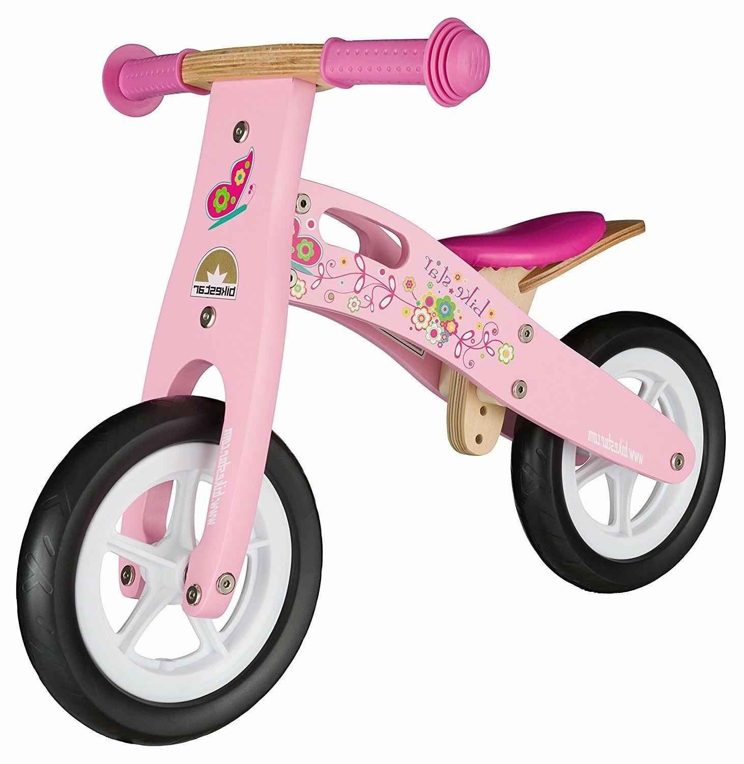BIKESTAR® Wooden Balance Bike 10 Inch with air tires for  2