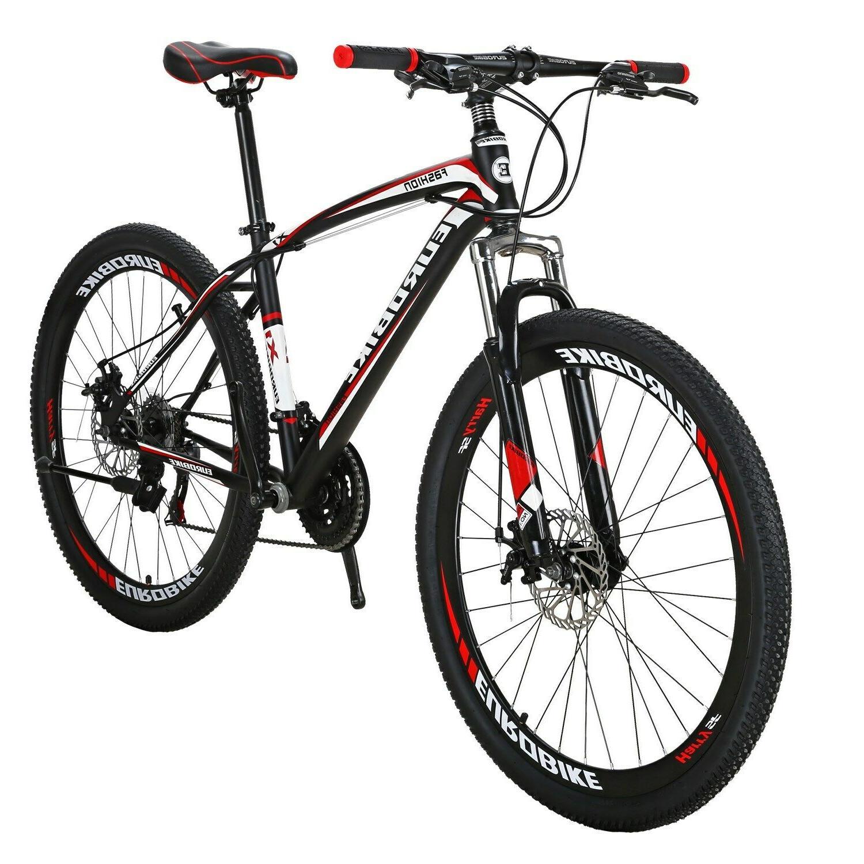 "X1 27.5"" mountain Bike Shimano 21 Speed Mens Bicycle"