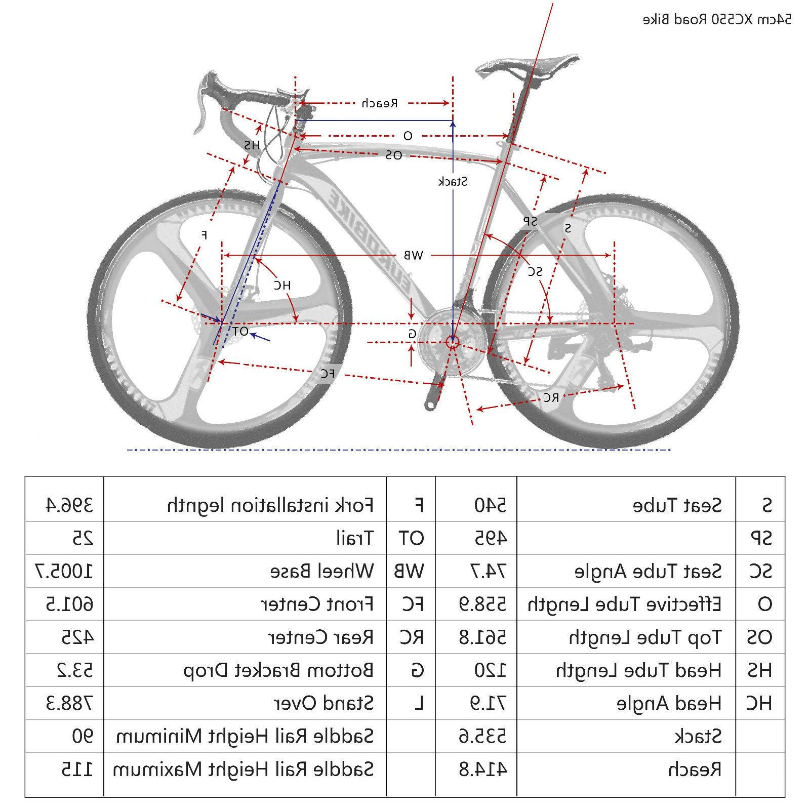 Road Bike 21 Speed Bicycle Bikes 54cm Brakes New