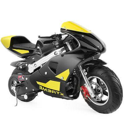 xtremepowerus gas pocket bike motorbike scooter 40cc