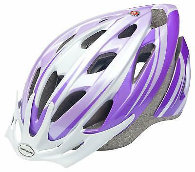 Schwinn Thrasher Youth Microshell Bicycle Helmet, Purple/Whi