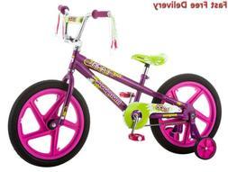 """Mongoose Girls Lark Bicycle with 18"""" Wheels Foot Break, Stee"""