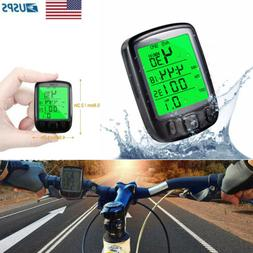 LCD Digital Bicycle Wired Computer Odometer Backlight Speedo