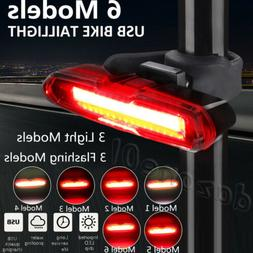 LED USB Rechargeable Bicycle Bike Cycling Front Tail Rear Li