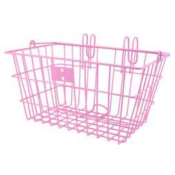 Sunlite Lift-Off Front Bike Basket 14.5x8.5x7 Pink