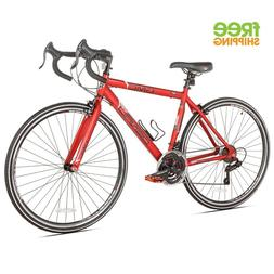 "Lightweight Aluminum Road Bike 19"" Frame 700c Red 21 Speed M"