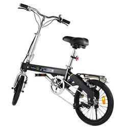 Goplus 180W Lightweight Folding Electric Bicycle Sport Bike