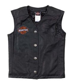Harley-Davidson Little Boys' Bar & Shield PU Pleather Biker