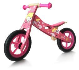 london-kate Deluxe Wooden BALANCE Running Pink girl's bike.