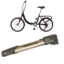 Schwinn 20-Inch Loop Folding Bike, Black and Schwinn Aluminu