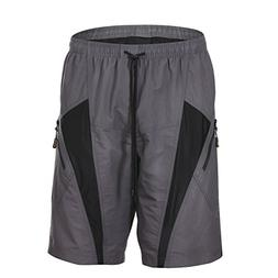 HAMSWAN Men's Loose-Fit Padded Breathable Bike Shorts for Cy