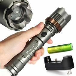 Lot Super Bright 90000LM Led Flashlight Rechargeable Tactica