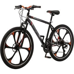 "26"" Mens Mongoose Mack Mag Wheel Bike, Black and Orange"