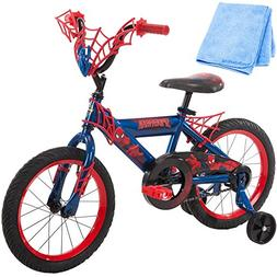 16 Inch Huffy Marvel Spiderman Kids Bike for Boys, Red with