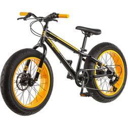 "NEW 20"" Mongoose Massif Boys 7 Speed Fat Tire Mountain Bike"