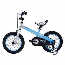"""RoyalBaby CubeTube Matte Buttons 12"""" Bicycle for Kids, Blue"""