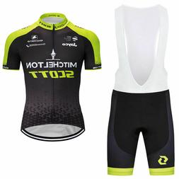 Men Cycling Jersey Bib Short Bicycle Bike Motocross MTB Shir