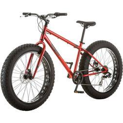 Men's All-Terrain Fat Tire Bike Mongoose Hitch, Red