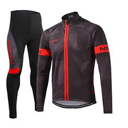 Lixada Men's Cycling Jersey Suit Winter Thermal Fleece Long