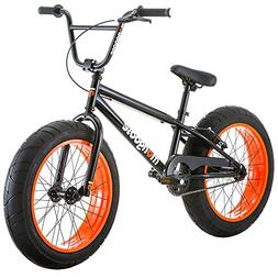 Mongoose Menace 20-Inch Fat Tire Youth Bike, Black